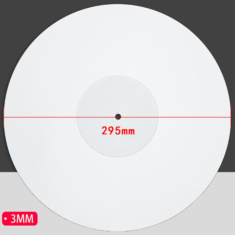 12 Inch 3MM Acrylic Record Pad Anti static LP Vinyl Mat Slipmat for Turntable Phonograph Accessories in Turntables from Consumer Electronics