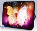 "10 "" Big Pink Butterfly neopreno suave Universal para portátiles bolsa caso bolsa para 10.1 "" Samsung Galaxy Tab / de Apple iPad 4 3 2 1"