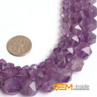 Faceted Natural Amethyst Beads For Cambay Natural Stone Beads DIY Loose Beads For Jewelry Making