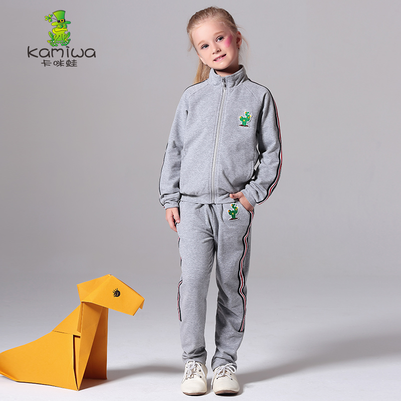 2017 Girls And Boys Children`s Sets Active Twinset Spring And Autumn Full Casual Sports Set Children`s Clothing Kids Clothes