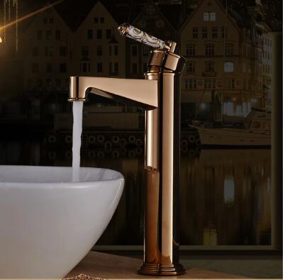 fashion basin faucet high quality rose gold  with ceramic handle cold and hot single lever bathroom sink faucet basin mixer pastoralism and agriculture pennar basin india