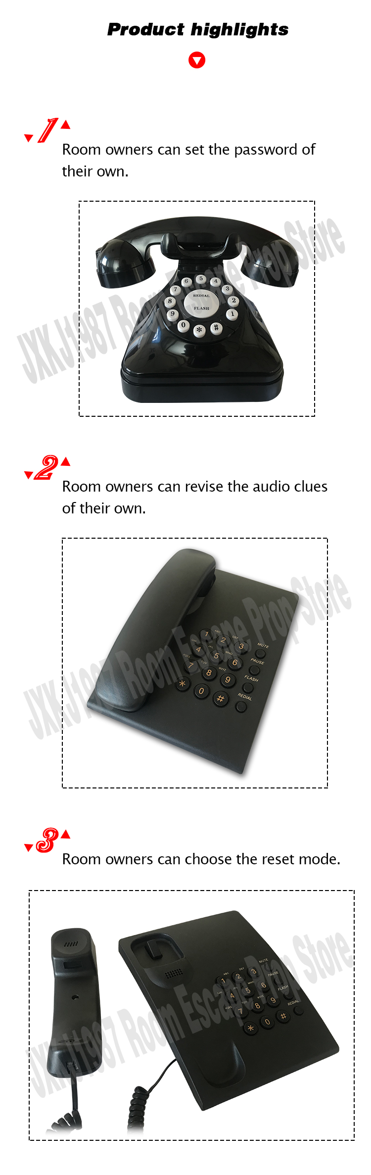 Security & Protection Alarm System Kits Fashion Style Escape Room Prop Push The Joystick Input A Sequence Of Movements To Trigger The Lock Room Escape Game Direction Puzzle Prop