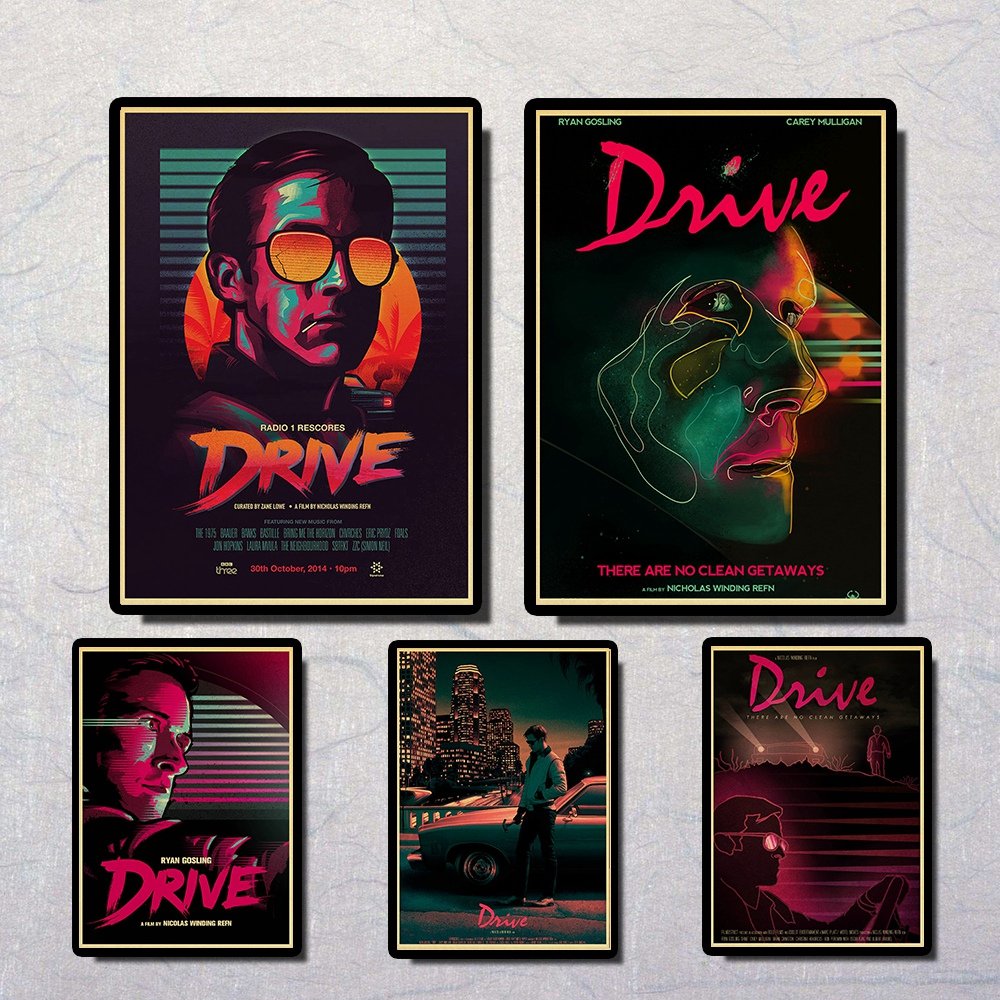 Drive Ryan Gosling Carey Mulligan Vintage Paper Poster Wall Painting Home Decoration 42X30 CM 30X21 CM