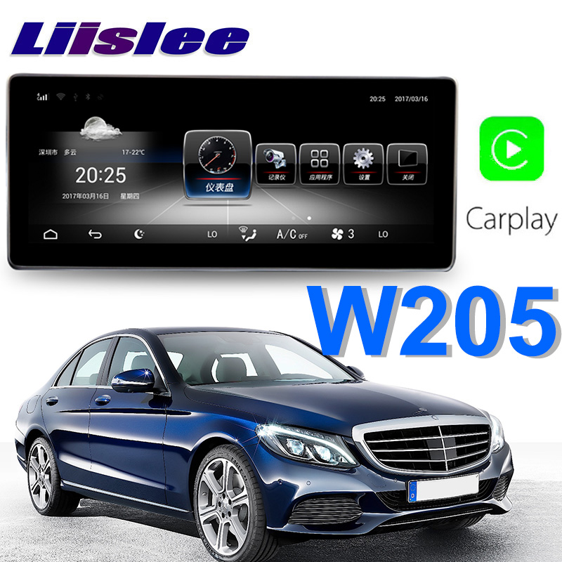 Liislee Car Multimedia Player NAVI For Mercedes Benz MB C Class W205 C205 A205 S205 2015~2018 Car Radio Stereo GPS Navigation летние шины bridgestone 235 45 r17 94w turanza t001