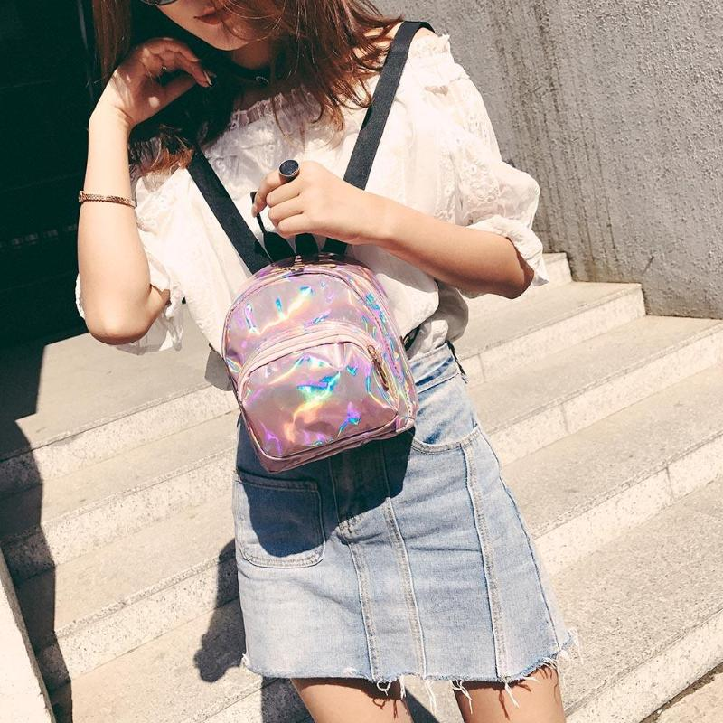 97bd0d557860 Girls Mini Backpacks Women Shining College Style Solid Casual Shoulder Bags  Zipper School Bags Features  Exquisite design  generous and decent
