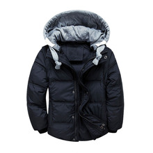 hooded winter jacket youngsters tops coat child boys mild jackets for ladies outerwear coats clothes toddler woman boy heat coat Four-13 Y