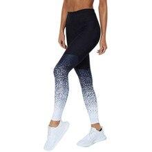 Спортивные брюки 2019 для женщин с короткими рукавами Slim Fit с принтом и высокой талией Спортивные Лучший!