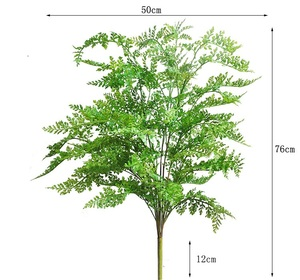 Image 2 - 75CM New High Quality Artificial Big Fern Grass Tree Plant Fern Grass Fake Potted Plant Home Garden Decor Decorative Plant Tree