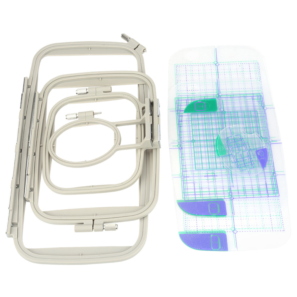 4pcs Embroidery Machine Hoop Set Sewing Hoop Frame for Brother PE 700 PE 700II PE 750D