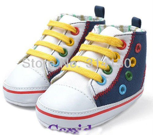 FREE SHIPPING----baby Boy Canvas Shoes Infant Foot Wear Casual Soft Sole Shoes First Walkers Skidproof Prewalker Shoes 1pair