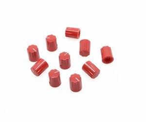 KAISH 10 шт. красные гитарные зубчатые края Davies 1900H стильные ручки AMP для педали эффектов