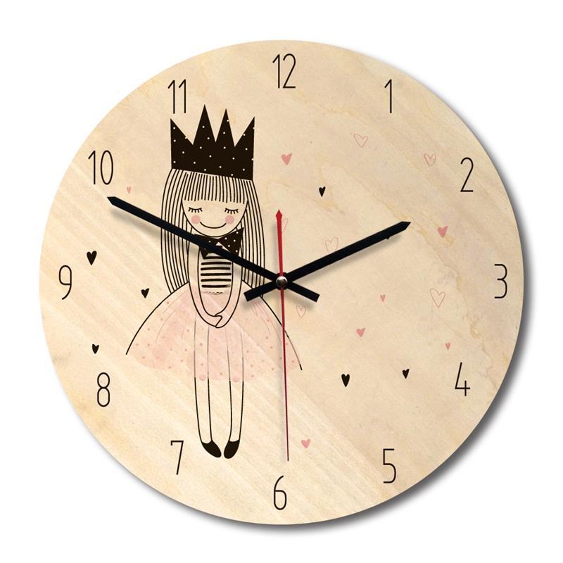 Cartoon Creative Wall Clock Modern Minimalist Living Room Creative Clock Art Clock Princess Section A