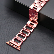 Купить с кэшбэком Watchbands for Apple Watch 38MM 42MM Band Stainless Steel Smart Watch Band For Apple Watch Series 3/2/1