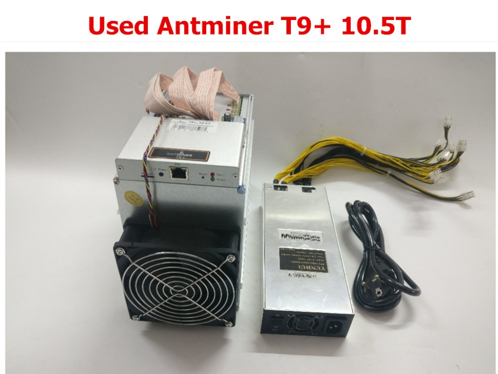 Se BTC minero AntMiner T9 + 10,5 T Bitcoin BCH minero con PSU mejor que Antminer S9 S9i S9j 13,5 T 14 t 14,5 T WhatsMiner M3