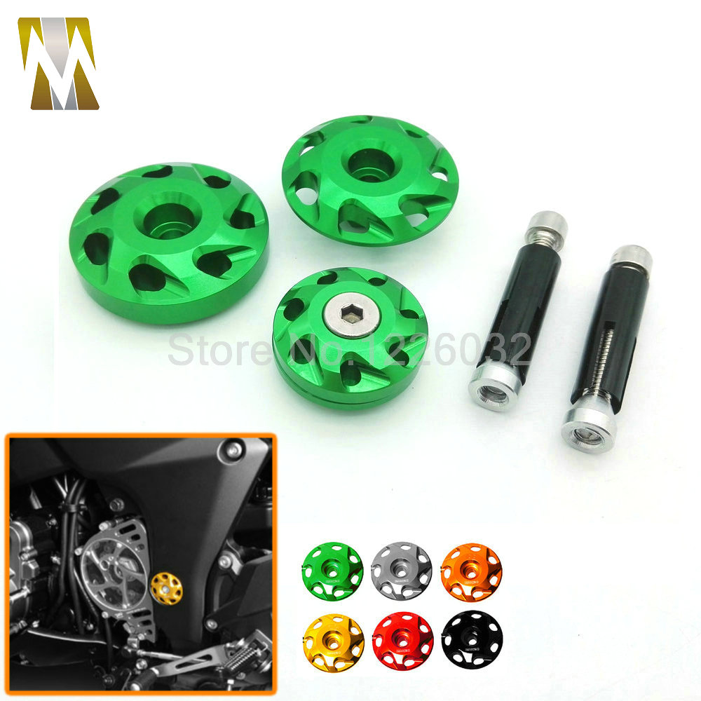 For kawasaki Z1000 10-14 2010 2011 2012 2013 2014 Motorcycle Parts Sales CNC Aluminum Frame Hole Cover 6 Colors