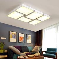 Regron минимализм потолок освещения коммерческих большой черные и белые квадраты светодио дный потолок светило для Гостиная исследование офи