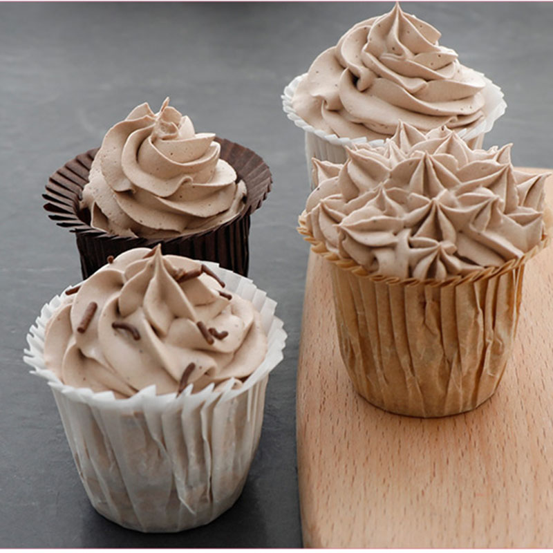 30pc Muffin Cupcakes Paper Cases Wrapper High Top Hat Liners Release