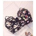 Рюкзак Женщины Рюкзаки симпатичные лук печати Vintage Девушки Школьные Сумки для Девочек Черный/Белый мешок mochilas Женщины Рюкзак