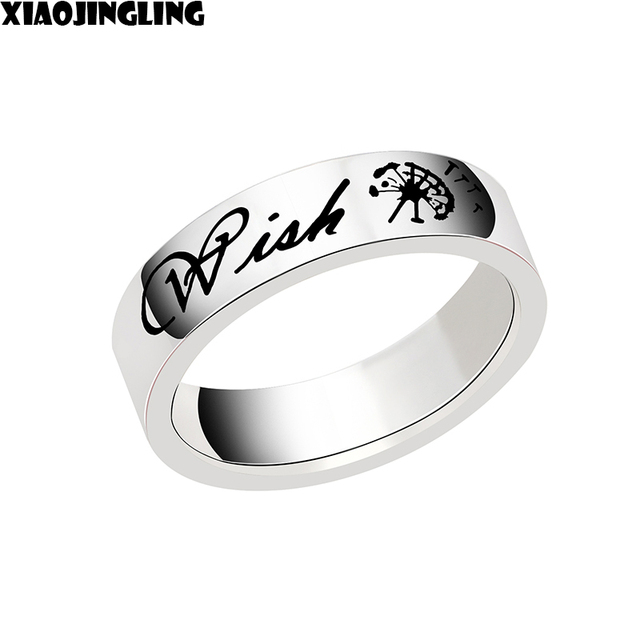 XIAOJINGLING 2018 Stainless Steel Wedding Ring For Lovers dandelion