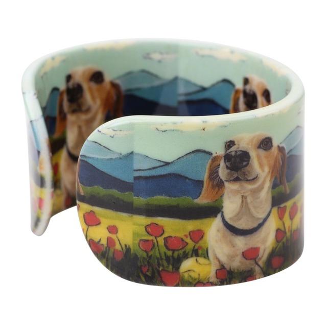 Fashion Wide Dog Printed Bracelet