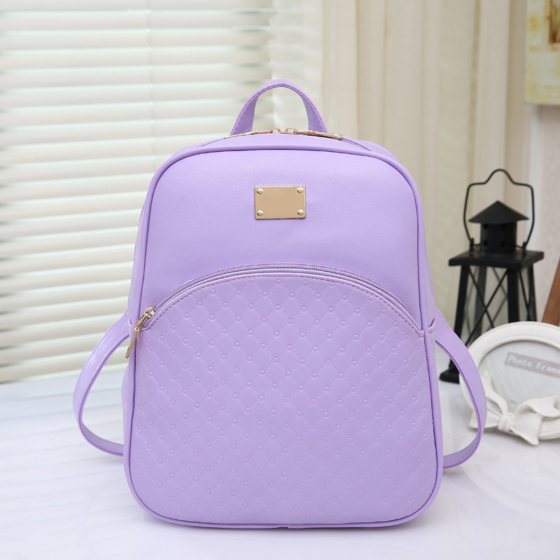 New Women's PU Leather Backpacks Fashion Daypack Girl School Bag Travel Casual Bags цена 2016