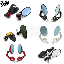 Universal Motorcycle bar end mirror Rear view Side mirrors FOR TRIUMRH Bonneville T100 SE Daytona 675R America LT Speed Triple R