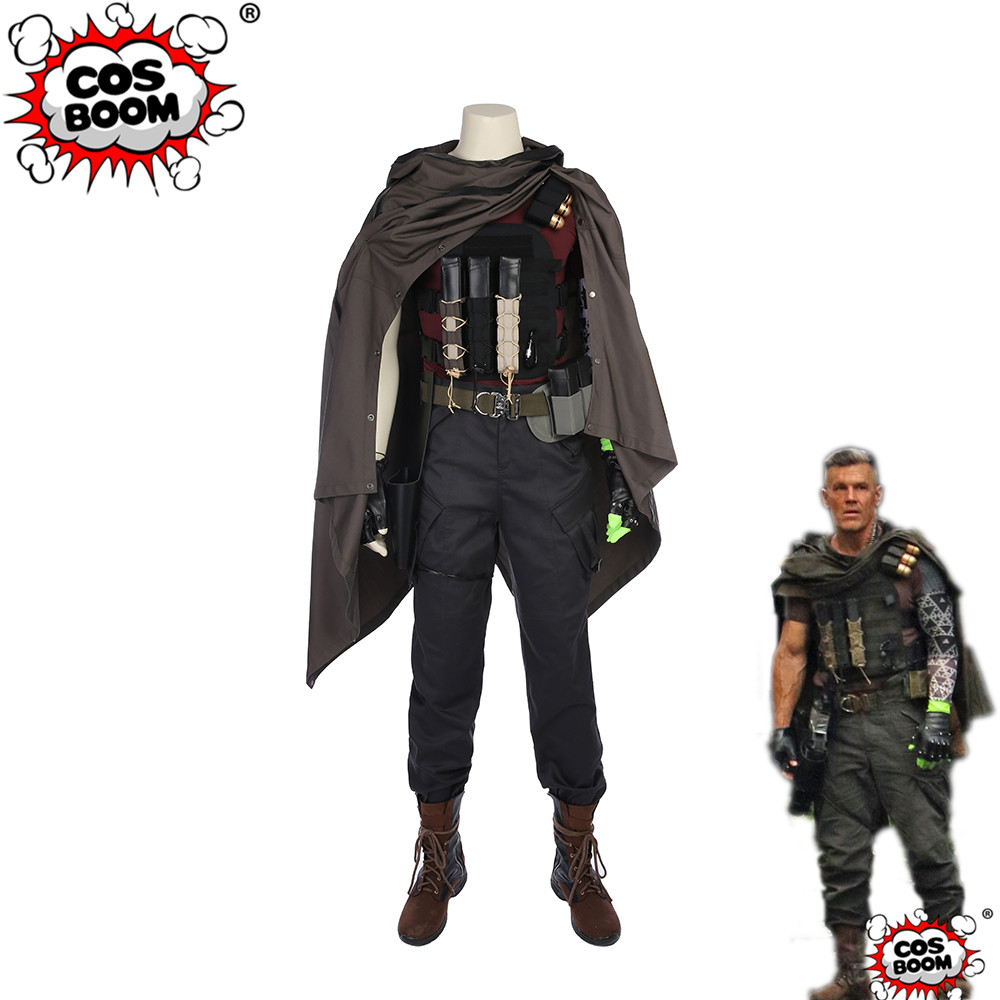 COSBOOM Deadpool 2 Cable Nathan Summers Costume Men's Halloween Carnival Costume Superhero Deadpool Cable Cosplay Costume