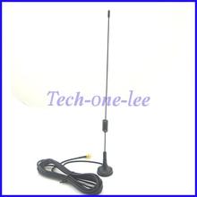 1 piece 7-8dbi Radio Antenna Wireless WLAN SMA Plug Straight Magnetic Base Ham Radio GSM 3M Cable