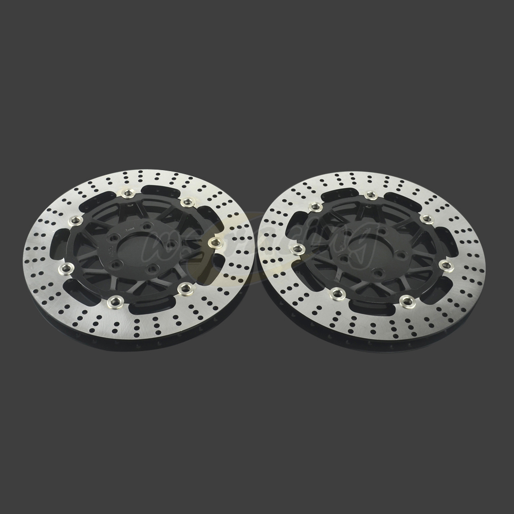 300MM Motorcycle Front Wavy Floating Brake Disc Rotor For KAWASAKI ZR7 Z750 ZR750 ZX900 GPZ R 900 ZX9R GTR1000 Z1000 ZX12R 296mm motorcycle front wavy floating brake disc rotor for honda cbr600f4i cbr600f cb919f vtx1800 vtx1800f vtx1800n vtx1800t