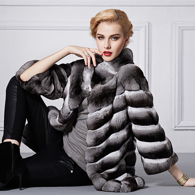 Popular Real Chinchilla Fur Coats-Buy Cheap Real Chinchilla Fur ...