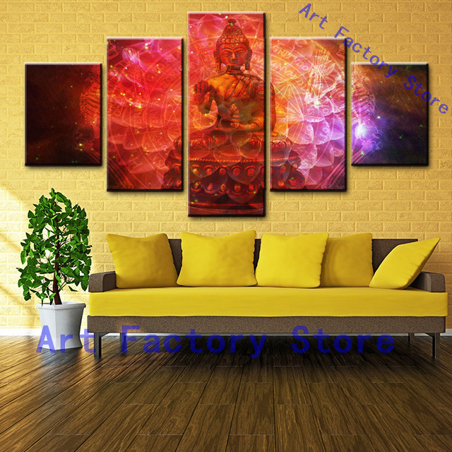 5 Units Canvas Print Wall Art Decor Zen Buddhism Buddha Canvas ...