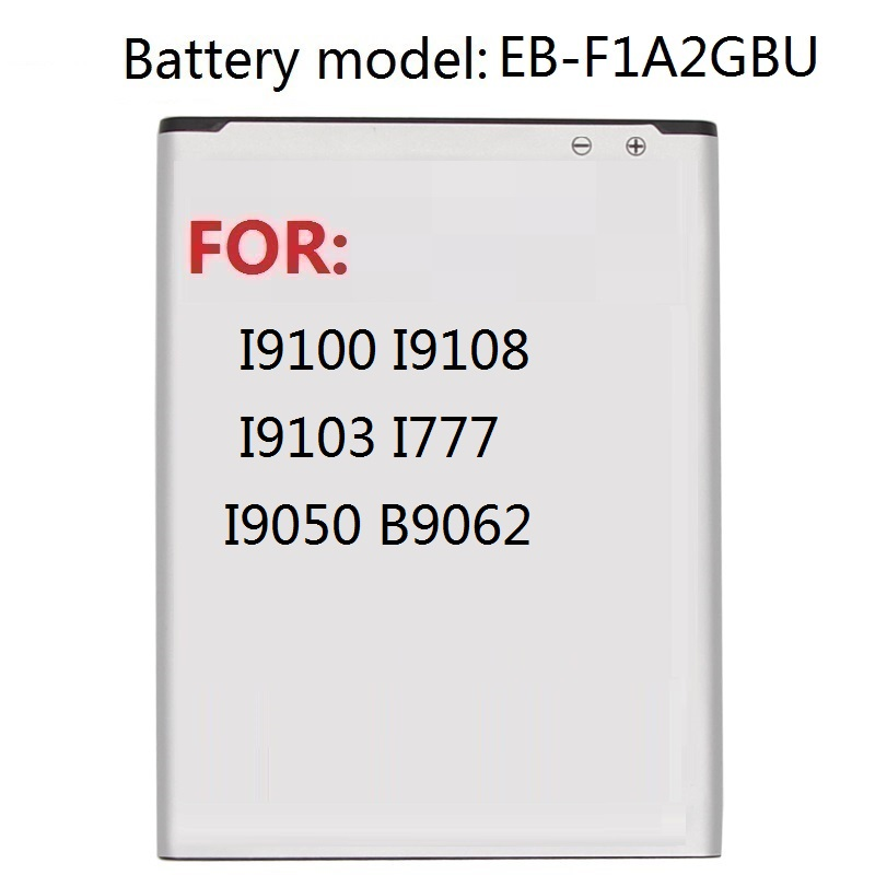 Replacement Battery EB F1A2GBU For Samsung I9100 I9108 I9103 I777 I9050 B9062 Phone Battery 1650mAh Mobile Phone Batteries     - title=