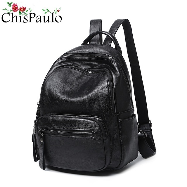 457e38f92e CHISPAULO Designer COW Genuine Leather Backpack High Quality Fashion  Women s Shoulder Laptop Travel School Bags For Girls N075