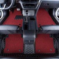 Автомобильные коврики охватывает Высший сорт против царапин огнестойкие прочный водонепроницаемый 6D кожа коврик для Audi Q5