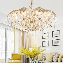 2019 Luxury Crystal Chandelier Living Room Lamp lustres de cristal indoor Lights Crystal Pendants For Chandeliers Free shipping