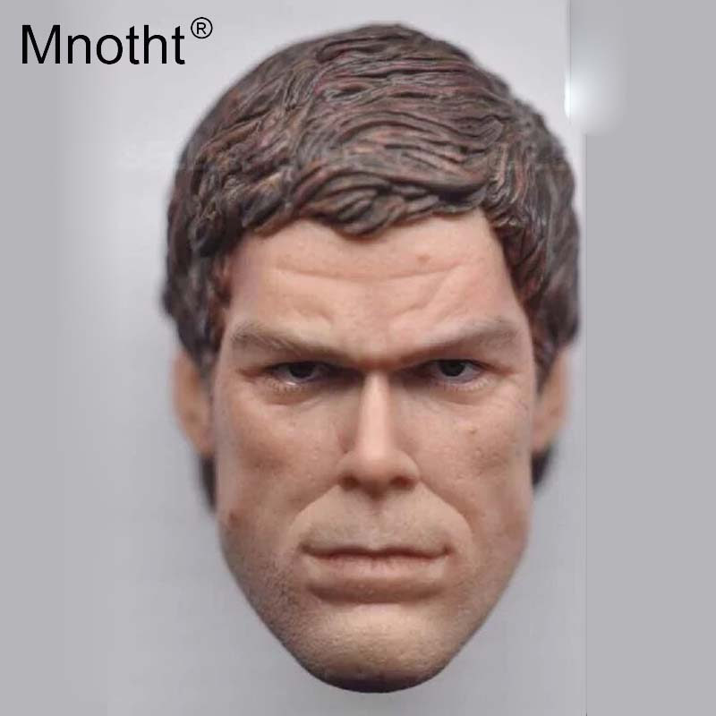 Mnotht 1/6 Scale Dexter the Game Michael Hall Head Carving Model Male Soldier Head Sculpt Toys For 12in Action Figures m3 1 6 scale wolverine 3 logan hugh jackman head sculpt for 12 figure hot toys male head carving soldier head model toys