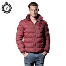 COUTUDI 2017 Casual Men's Winter Jackets Clothing Ultralight Slim Warm Parkas Jacket Male Solid Hooded Windbreaker Outwear Coats