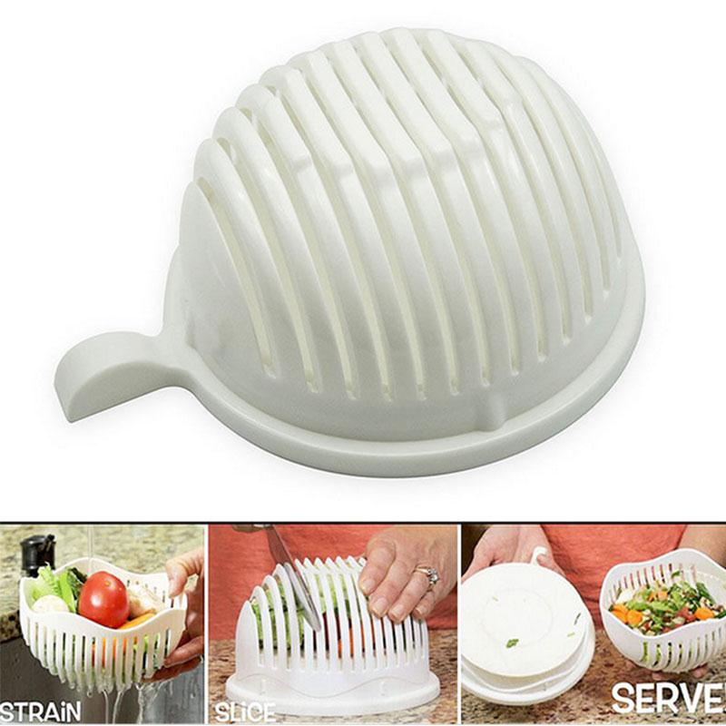 Easy to Make Salad Cutter Bowl Kitchen Accessories Fast Maker Health Fruit Vegetable Tools Slicer Dolce Gusto Cocina Gadget