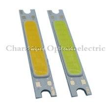 Specail Offer!10pcs/lot 3W COB LED Chip Emitter Strip Lights Bulb Lamp Pure White/warm white for DIY 48X7MM