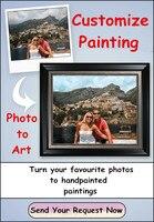 100% ручной росписью настроить портрет пейзажной живописи фото на холсте Книги по искусству маслом Home Decor Wall Фотографии не оформлена