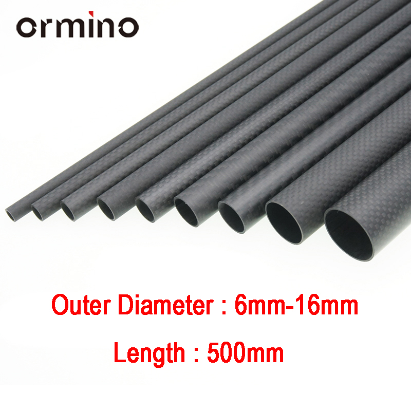 Ormino 3K Carbon Fiber Tube For Drone Diy Quadcopter Frame Arm Landing Gear 6mm 8mm 10mm 12mm 14mm 15mm 16mm Rc Drone Kit Diy