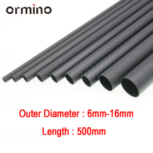 Ormino 3K Carbon Fiber Tube for Drone diy Quadcopter Frame arm Landing Gear 6mm 8mm 10mm 12mm 14mm 15mm 16mm Rc Drone kit diy  цена 2017