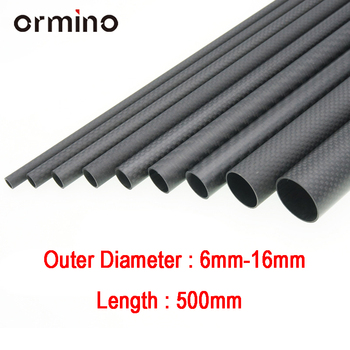 Ormino 3K Carbon Fiber Tube for Drone diy Quadcopter Frame arm Landing Gear 6mm 8mm 10mm 12mm 14mm 15mm 16mm Rc Drone kit diy alien fpv 7 inch 5 inch pure carbon fiber 300mm 225mm quadcopter mini drone frame kit