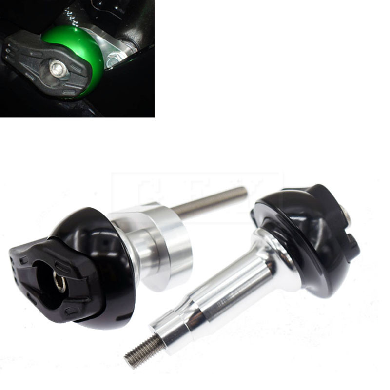 Motorcycle CNC Frame Sliders Crash Falling Protection For Kawasaki NINJA ZX6R 2009 2010 2011 ZX-6R Moto Protector Accessory 10 steering damper stabilizer bracket mounting holder for kawasaki ninja zx6r zx 6r 2009 2016 2010 2015 gold
