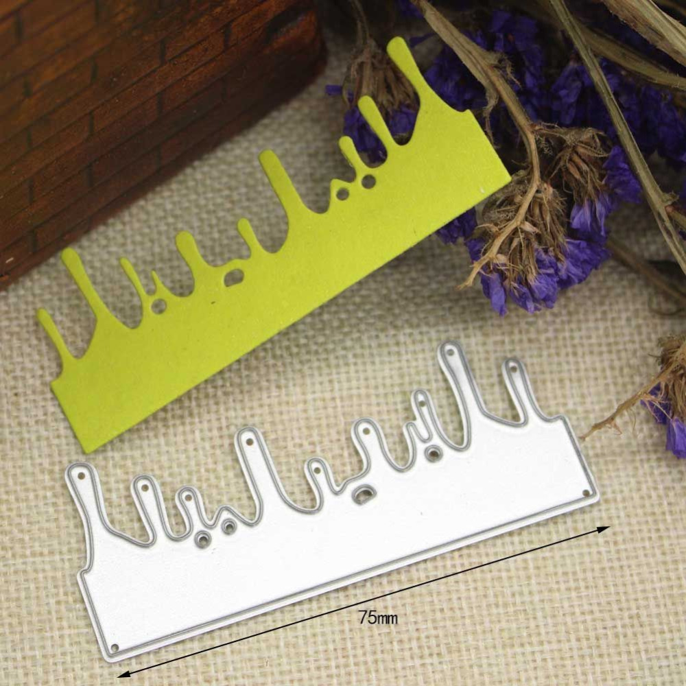 Christmas Icicle Border Metal Cutting Dies Stencils for ...