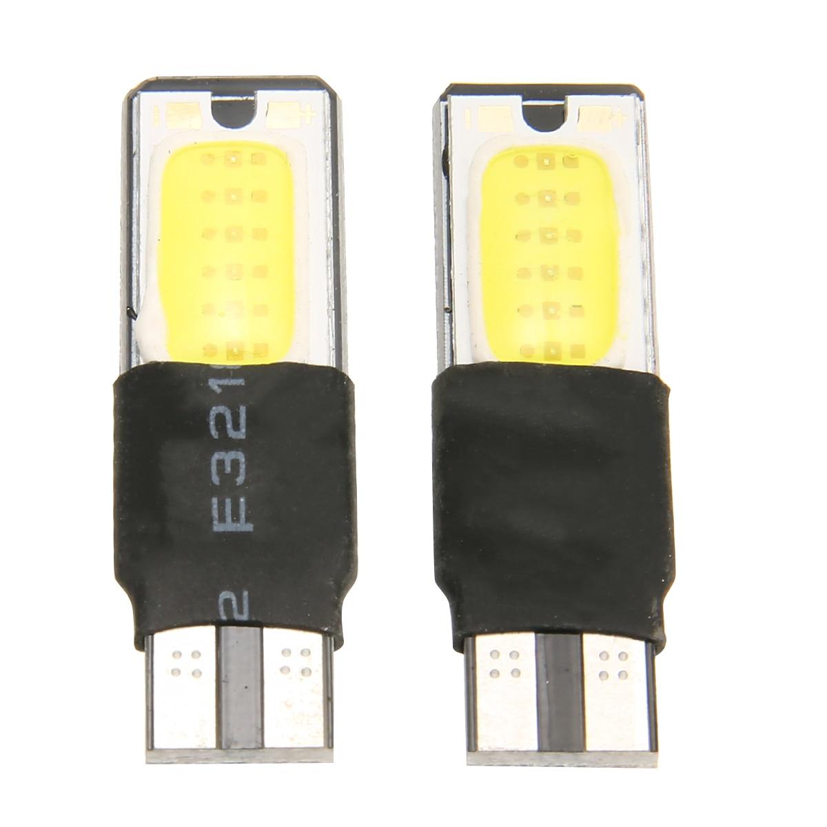 2PCS T10 194 168 6W COB LED Car Canbus No Error Wedge Side Light Bulb White Lamp Car Styling Signal Side Marker Lights