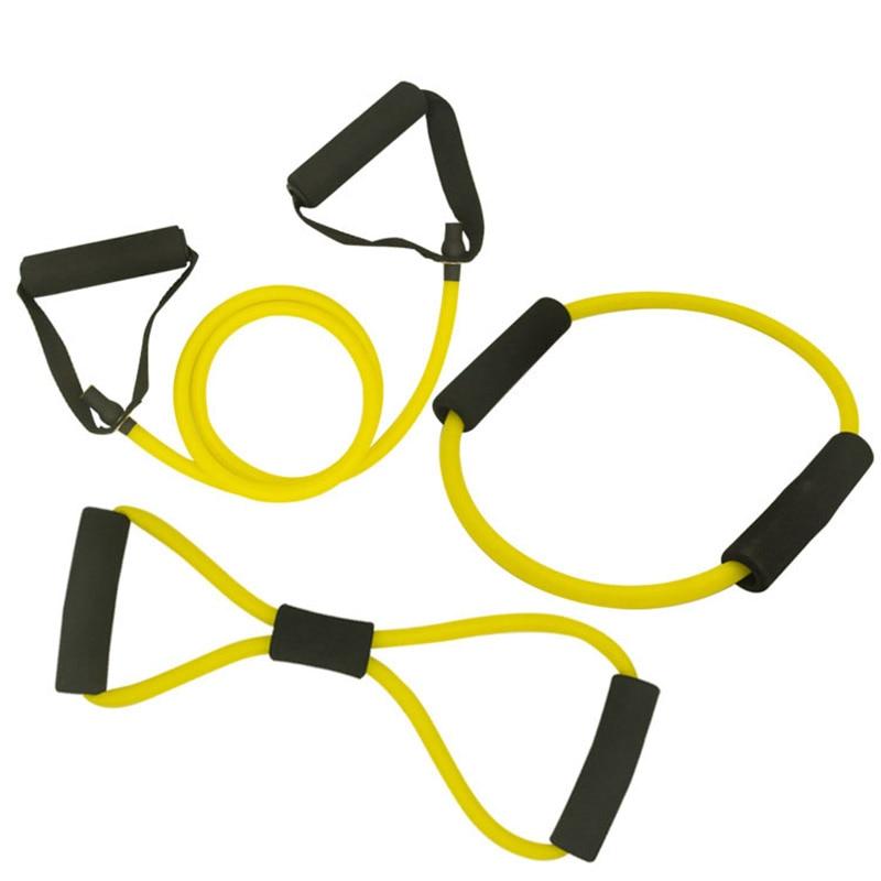 ✔  3 шт. / Компл. Резиновые Ленты Резиновые 8 Слово Грудь Разработчик Резина Yoga Pull Веревка Фитнес-Т ①