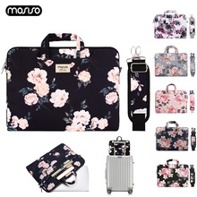 цена на MOSISO New Laptop Bag Case 13.3 14 15.6 Inch Canvas Notebook Bag for Macbook Air Pro 13 15 Computer Handbag Briefcase Bags Women
