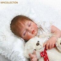 NPKCOLLECTION 50 см мягкие силиконовые куклы реборн маленьких Реалистичная кукла Reborn 20 дюймов Детские куклы Bonecas спальный куклы для девочек