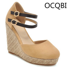 Womens Summer Wedge Mary Janes Sandals Shoes Everyday Street Comfortable Lady Single Strap Footwear